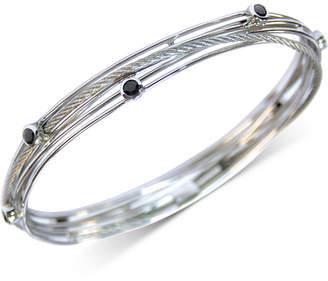 Charriol Black Spinel Multi-Band Bracelet in Stainless Steel