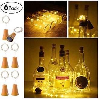 6 Pack Solar Powered Wine Bottle Lights