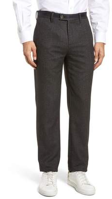 Ted Baker Bektrot Flat Front Stretch Solid Pants