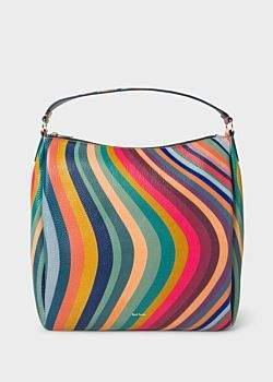 Paul Smith Women's 'Swirl' Print Leather Hobo Bag