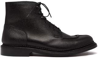 Grenson - Grover Grained Leather Ankle Boots - Mens - Black