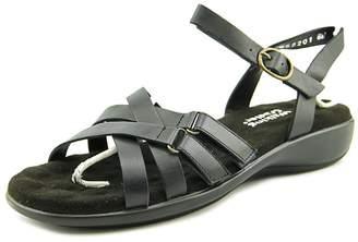 Walking Cradles Sleek Women US 8 W Black Slides Sandal