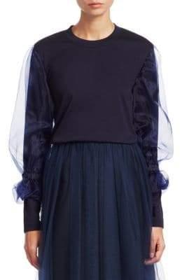 Noir Kei Ninomiya Long Tulle Sleeve Top