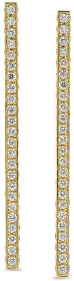 Established Jewelry 18k Gold Diamond Pave Long Stick Earrings