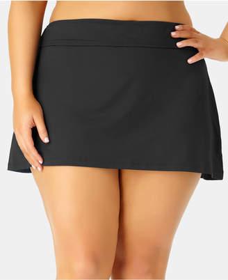 Anne Cole Plus Size Basic Swim Skirt Women Swimsuit