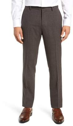 Nordstrom Signature Flat Front Solid Wool Trousers