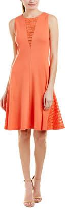 Three Dots Lace Inset Shift Dress