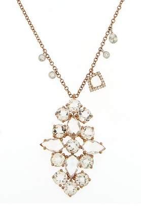Meira T 14K Rose Gold White Topaz Charm & Pendant Necklace