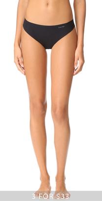Calvin Klein Underwear Invisibles Thong $13 thestylecure.com
