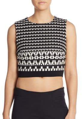 DKNY Jacquard Crop Top