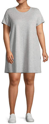 Xersion Short Sleeve Cut Out Back Dress - Plus