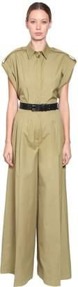 Alberta Ferretti Cotton Canvas Shirt W/ Epaulettes