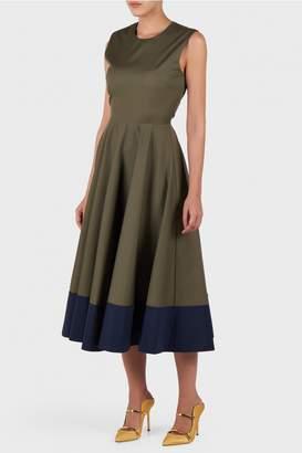 Roksanda Athena Botton Line Navy Dress