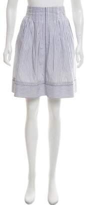 Fendi Knee-Length Striped Skirt