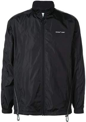 Off-White Off White nylon track jacket black