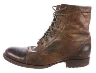 Frye Cap-Toe Leather Boots