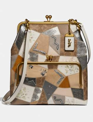 Coach Double Frame Crossbody 26 With Signature Patchwork