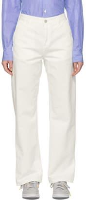 Carhartt Work In Progress Off-White Straight Pierce Trousers