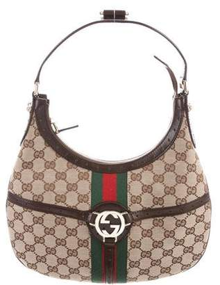Gucci GG Canvas Reins Hobo