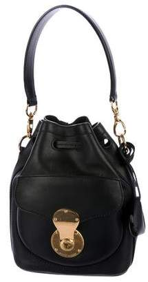 Ralph Lauren Leather Drawstring Satchel