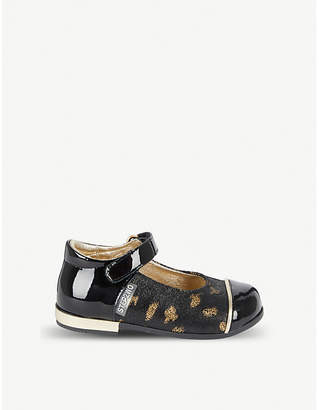 STEP2WO Cilia leopard-print leather Mary Jane shoes 6 months-5 years