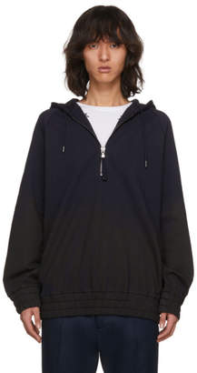 Diesel Black Gold Navy and Black Shadeoff Front Zip Hoodie