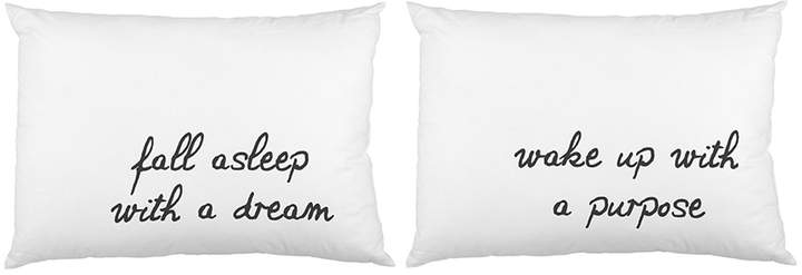 One Bella Casa Fall Asleep with a Dream Pillowcases (Set of 2)