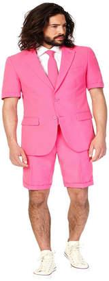 OppoSuits Men Summer Mr. Pink Solid Suit