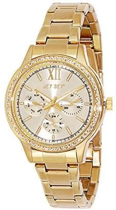 Jet Set 16218-722 Swag-J Women's Watch Analogue Quartz Black Dial Steel Strap Golden