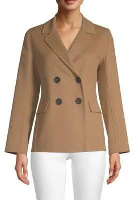 Max Mara Moxa Virgin Wool & Angora Double-Breasted Coat