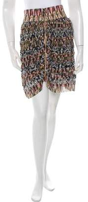 Isabel Marant Silk Patchwork Printed Skirt w/ Tags