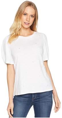 Kensie Cotton Slub Pearl Tee KS6K3735 Women's Clothing