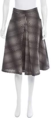 Behnaz Sarafpour Jacquard A-Line Skirt