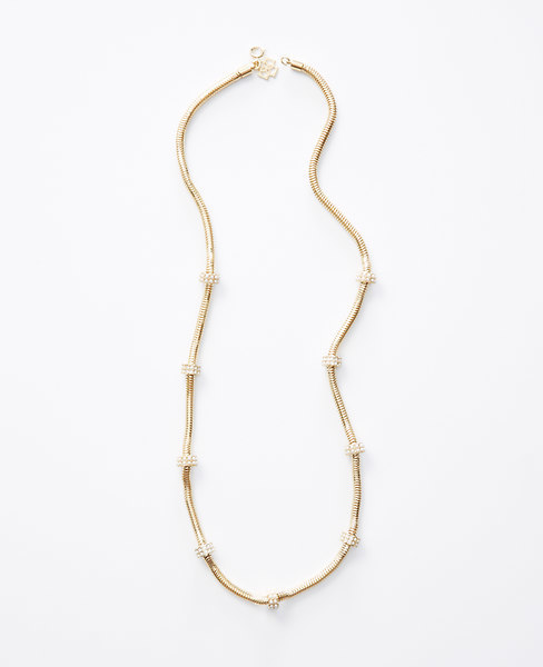 Ann Taylor Modern Pearlized Long Necklace