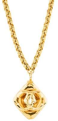 Chanel CC Logo Pendant Necklace