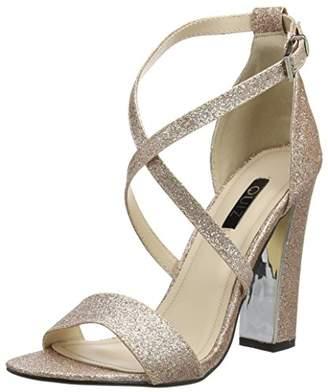 e055840724f Quiz Women s Rose Gold Glitter peep Toe Ankle Strap Sandals