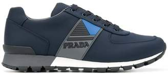 Prada technical fabric logo sneakers
