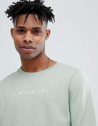 Jack Wills Cruxton Crew Neck Sweat In Pale Green