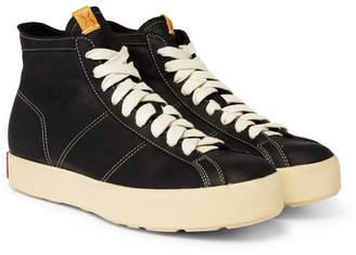 Visvim Foley Folk Full-Grain Leather High-Top Sneakers - Black