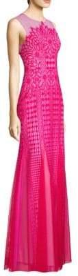 BCBGMAXAZRIA Elinor Sleeveless Lace Gown