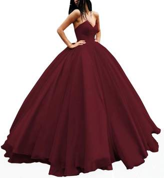 Ever Girl Quinceanera Dresses Women's Sweetheart Tulle Ball Gown Evening Prom Party Dresses US