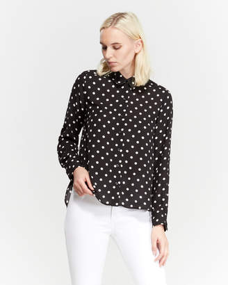 Premise Studio Polka Dot Roll Tab Shirt