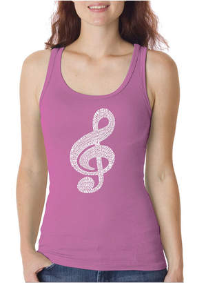LOS ANGELES POP ART Los Angeles Pop Art Women's Tank Top - Music Note