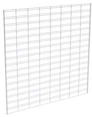 Econoco Metal Slat Grid for Any Retail Display or Home Storage, 4 Width x 4 Height, 3 Grids Per Carton (WHITE)