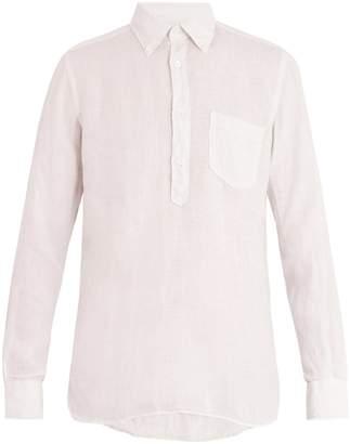 Glanshirt Eric button-down collar linen shirt