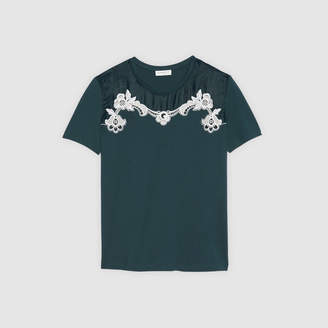 Sandro T-shirt with detail at the collar
