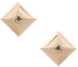 Marc Jacobs Large Metal Stud Clip Earrings