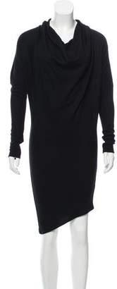 Helmut Lang Asymmetrical Wool Dress