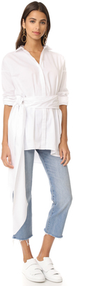 MLM LABEL Abyss Shirtdress with Tie $198 thestylecure.com