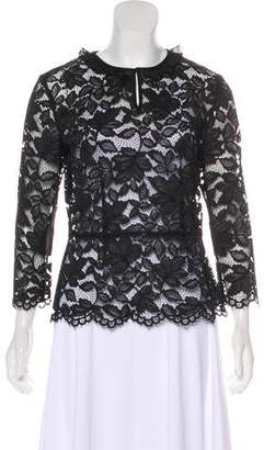 Marc by Marc Jacobs Guipure Lace Long Sleeve Top